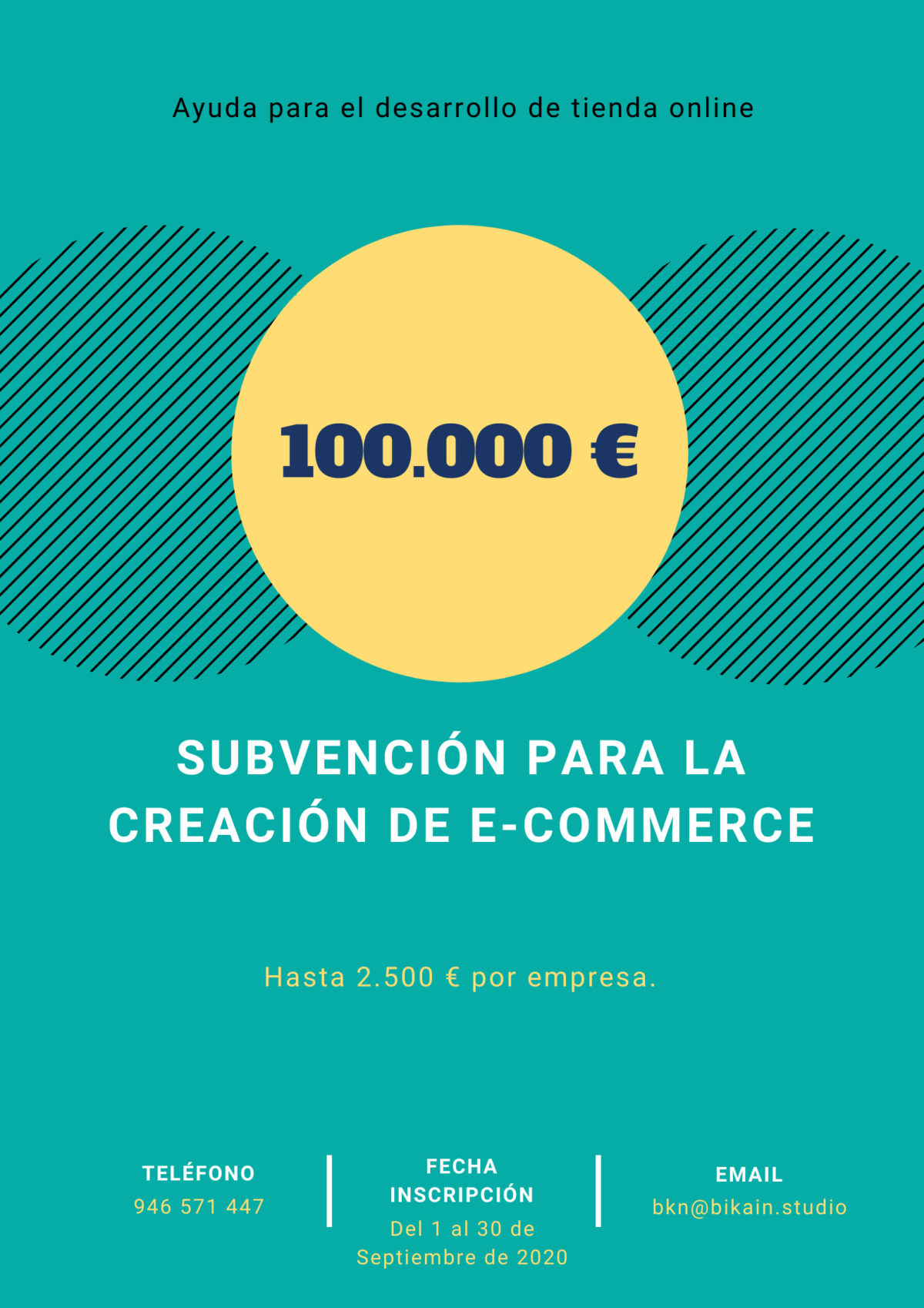 """Subvención para la creación de e-Commerce """"Comercio electrónico"""""""